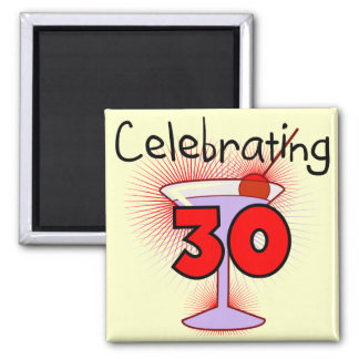 Celebrating 30 Tshirts and Gifts Magnet