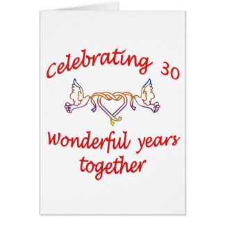CELEBRATING 30 YEARS CARD