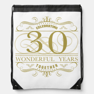 Celebrating 30th Anniversary Drawstring Bag