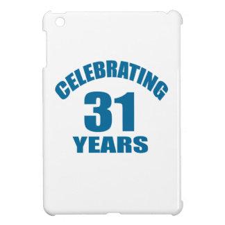 Celebrating 31 Years Birthday Designs iPad Mini Case