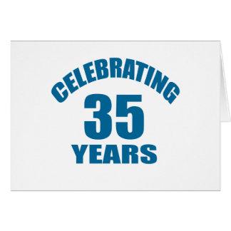 Celebrating 35 Years Birthday Designs Card