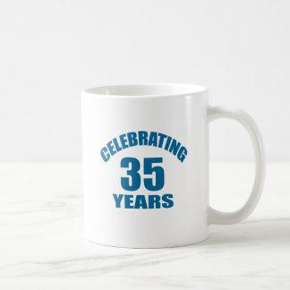 Celebrating 35 Years Birthday Designs Coffee Mug