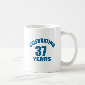 Celebrating 37 Years Birthday Designs Coffee Mug