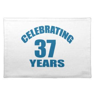 Celebrating 37 Years Birthday Designs Placemat