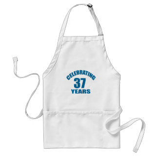 Celebrating 37 Years Birthday Designs Standard Apron