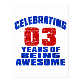 Celebrating 3 years of being awesome postcard
