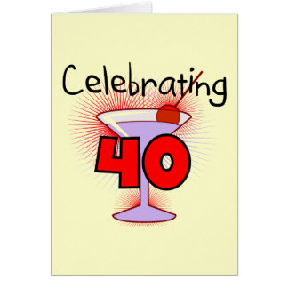 Celebrating 40 Tshirts and Gifts Greeting Card