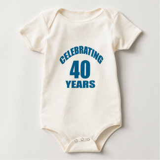Celebrating 40 Years Birthday Designs Baby Bodysuit