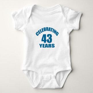 Celebrating 43 Years Birthday Designs Baby Bodysuit