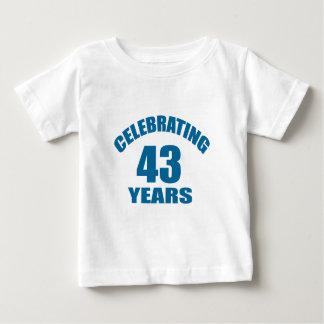 Celebrating 43 Years Birthday Designs Baby T-Shirt