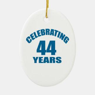 Celebrating 44 Years Birthday Designs Ceramic Ornament
