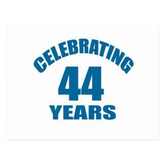 Celebrating 44 Years Birthday Designs Postcard