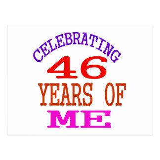 Celebrating 46 Years Of Me Postcard