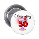 Celebrating 50 Tshirts and Gifts Buttons