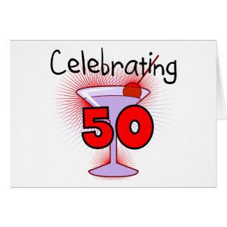 Celebrating 50 Tshirts and Gifts Greeting Card