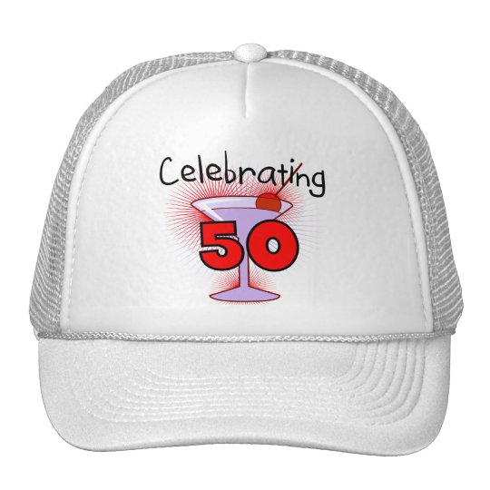 Celebrating 50 Tshirts and Gifts Trucker Hat
