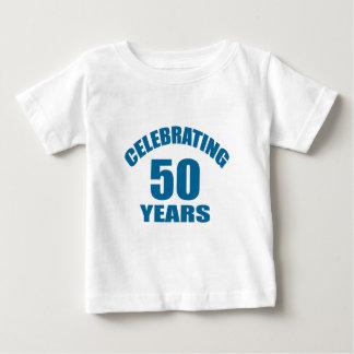 Celebrating 50 Years Birthday Designs Baby T-Shirt