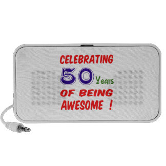Celebrating 50 years of being awesome ! mp3 speakers