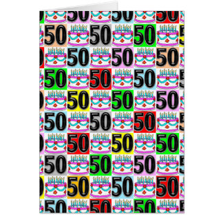 CELEBRATING 50 YEARS OLD GREETING CARD