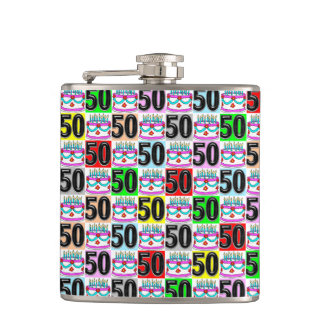 CELEBRATING 50 YEARS OLD HIP FLASK