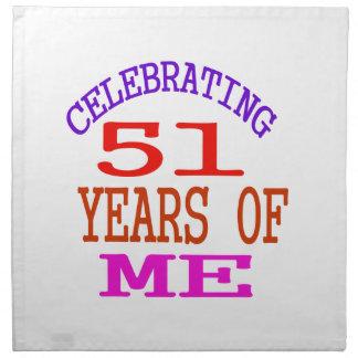 Celebrating 51 Years Of Me Napkins