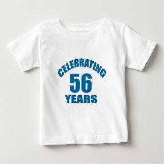 Celebrating 56 Years Birthday Designs Baby T-Shirt