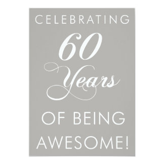 Celebrating 60 Years Of Being Awesome Invite