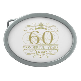 Celebrating 60th Anniversary Belt Buckle