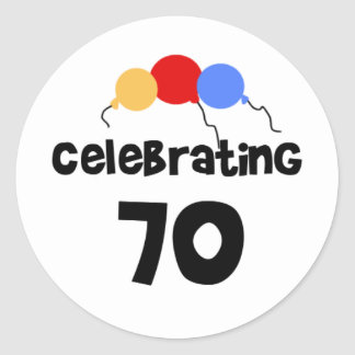 Celebrating 70 classic round sticker