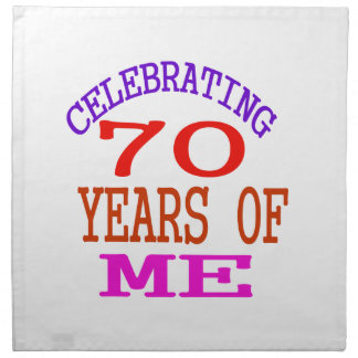 Celebrating 70 Years Of Me Cloth Napkins