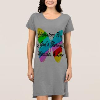 CELEBRATING 70TH BIRTHDAY BUTTERFLY DESIGN DRESS