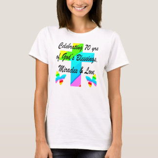 CELEBRATING 70TH BUTTERFLY AND CROSS DESIGN T-Shirt