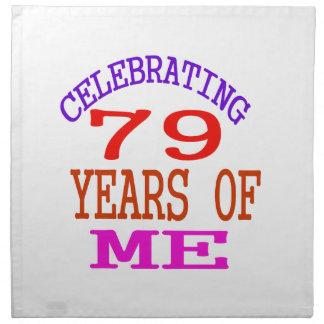 Celebrating 79 Years Of Me Napkins
