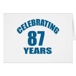 Celebrating 87 Years Birthday Designs Card