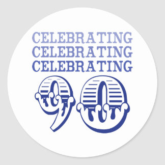 Celebrating 90! (Birthday Party) Classic Round Sticker