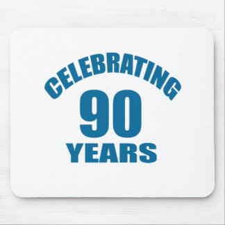 Celebrating 90 Years Birthday Designs Mouse Pad