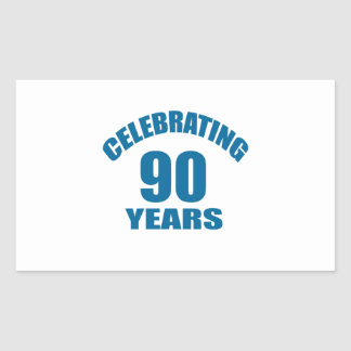 Celebrating 90 Years Birthday Designs Sticker