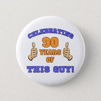 Celebrating 90th Birthday For Men 2 Inch Round Button
