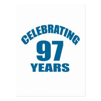 Celebrating 97 Years Birthday Designs Postcard