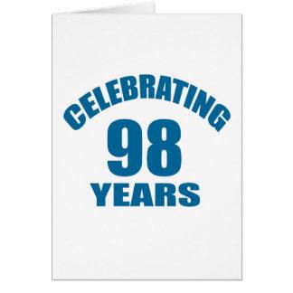 Celebrating 98 Years Birthday Designs Card