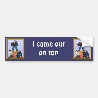 Celebrating a promotion bumper sticker