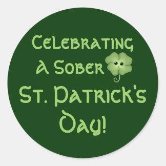 Celebrating A Sober St. Patrick's Day Sticker