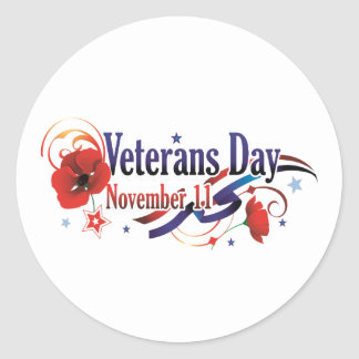 Celebrating All Veterans Day Stickers