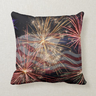 Celebrating America Throw Pillow