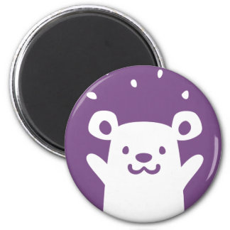 Celebrating Happy Bear 2 Inch Round Magnet
