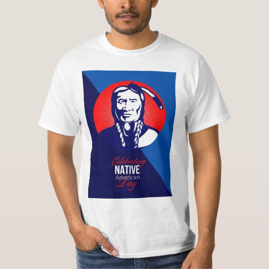Celebrating Native American Day Retro Greeting Car T-Shirt