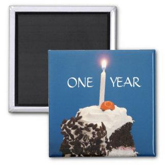 Celebrating ONE Year Fridge Magnet