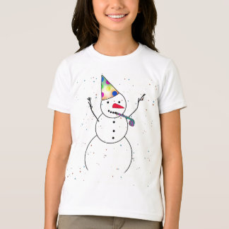 Celebrating Snowman tshirt