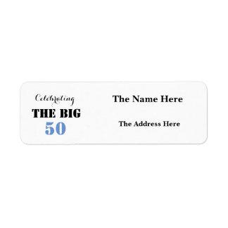 Celebrating THE BIG 50 Birthday - Return Address