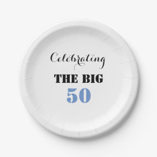 Celebrating the BIG 50 - Paper Plate